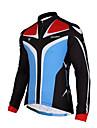 TASDAN® Maillot de Cyclisme Homme Manches longues Velo Respirable Sechage rapide Poche arriere Veste 100 % Polyester Couleur Pleine