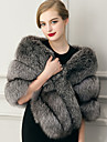 Women\'s Wrap Capelets Sleeveless Faux Fur Gray Wedding / Party/Evening / Casual Shawl Collar