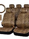 autoyouth lyx leopardmönstrad bilbarnstol täcka och 15 universal ratt bilbarnstol skydd