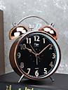 väckarklocka med matel fall tyst movment svart färg nattlampa