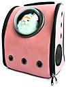 Katt Hund Ryggsäckar Astronaut Capsyl Bärare Husdjur Transportörer Bärbar Andningsfunktion Blå Brun Rosa Läder