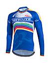 Sportif Maillot de Cyclisme Homme Manches longues VeloRespirable / Garder au chaud / Sechage rapide / Zip frontal / Zipper YKK /
