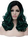 Perruques sans bonnet Perruques pour femmes Vert Perruques de Costume Perruques de Cosplay