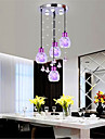 7 Lampe suspendue ,  Contemporain / Lanterne Plaque Fonctionnalite for Cristal / LED / Style mini / Designers MetalSalle de sejour /