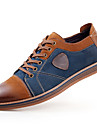 Homme Oxfords Confort Cuir Printemps Ete Automne Hiver Decontracte Confort Lacet Talon Plat Gris Marron Plat