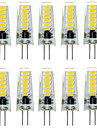 10pcs g4 12led smd5733 2w 200-300lm chaud blanc / blanc decoratif LED bi-pin lumieres dc12v