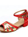 kvinnors och barns läder dansskor för latin / prestanda sandaler (fler färger)