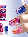 art beaute des ongles colores clous de conception de cristal lumineux autocollant outils de decoration eau transfert art de manucure
