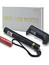 faisceau vert de puissance elevee jd303 pointeurs laser reglable plume (5mW, 532nm, 1x18650 batterie + chargeur) noir