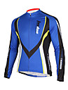 TASDAN® Maillot de Cyclisme Homme Manches longues Velo Respirable / Sechage rapide / Pocket Retour Veste 100 % Polyester Couleur Pleine