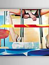Dipinta a mano Ritratti Dipinti ad olio,Modern Un Pannello Tela Hang-Dipinto ad olio For Decorazioni per la casa