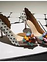 Femme Chaussures a Talons Cuir Ete Fleur Talon Aiguille Rose 5 a 7 cm