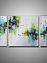HANDMÅLAD Abstrakt olje~~POS=TRUNC,Moderna Tre paneler Kanvas Hang målad oljemålning For Hem-dekoration