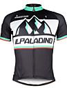 ILPALADINO Maillot de Cyclisme Homme Manches courtes Velo Maillot Hauts/TopsSechage rapide Resistant aux ultraviolets Respirable Doux