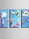 Rectangulaire Moderne/Contemporain Horloge murale , Autres Toile 30 x 60cm(12inchx24inch)x3pcs/ 40 x 80cm(16inchx32inch)x3pcs