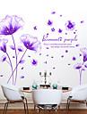 Botanisk / Romantik / Stilleben Wall Stickers Väggstickers Flygplan / Väggstickers i 3D Dekrativa Väggstickers,PVC MaterialKan tas bort /