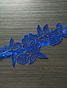 Jartieră Satin elasticizat Dantelă Floare Albastru