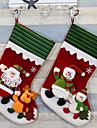 chaussettes de Noel fournitures bas de Noel le jour de Noel chaussettes de noel ornements chaussettes noel