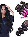 4 delar Ret Human Hair vävar Indiskt hår 350g-380g 10\'\'-30\'\' Människohår förlängningar