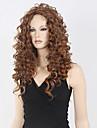 qualite superieure blond perruque brune frisee moyenne longue perruque synthetique chaud prix bas vente.