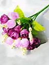 1 1 Gren Polyester Roser Bordsblomma Konstgjorda blommor 22cm