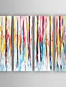 Peint a la main Abstrait Peintures a l\'huile,Moderne Quatre Panneaux Toile Peinture a l\'huile Hang-peint For Decoration d\'interieur