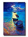 HANDMÅLAD Abstrakt / Landskap / Stilleben olje~~POS=TRUNC,Moderna / Europeisk Stil En panel Kanvas Hang målad oljemålning For