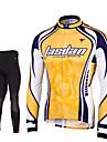 TASDAN® Maillot et Cuissard Long de Cyclisme Homme Manches longues VeloRespirable / Sechage rapide / Zip frontal / Compression / La peau