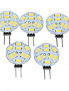 4.5W G4 Spot LED MR11 9 SMD 5730 360-450 lm Blanc Chaud Gradable DC 12 AC 12 V 5 pieces