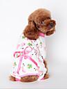 Hundar Tröja Pyjamas Gul Blå Rosa Hundkläder Vinter Vår/Höst Tecknat Gulligt Ledigt/vardag