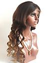 T1B / 4/30 lösa våg limfria spets front människohår peruker med baby hår för svarta kvinnor mellanbrun cap