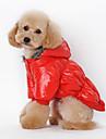 Hundar Kappor Huvtröjor Röd Blå Svart naken Hundkläder Vinter Vår/Höst Enfärgat Ledigt/vardag Håller värmen