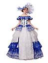 One-piece/Klänning Gotisk Lolita Klassisk/Traditionell Lolita Steampunk® Victoriansk Cosplay Lolita-klänning Blommig Holk 3/4-dels ärm