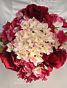 1 1 Une succursale Polyester Roses Hortensias Fleur de Table Fleurs artificielles 9.4