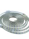 2m 220v higt ljusa LED-ljus remsa flexibel 5050 120smd tre kristall vattentät ljus bar trädgården lyser med eu nätkontakten