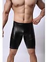 Masculin Sexy Solid Pantaloni scurți & Briefs Chiloți Boxeri Bărbătești(PU)