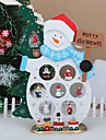 xmas de masă cadou decor din lemn om de zăpadă de Crăciun, cu ornament pentru x\'mas de Crăciun om de zăpadă Articole pentru mobilier