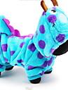 Câine Costume Hanorace cu Glugă Îmbrăcăminte Câini Draguț Cosplay Desene Animate Albastru