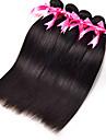 Human Hår vävar Indiskt hår Ret 3 delar hår väver