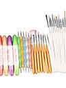 trousses de manucure outils 3 en 1 ongles art design ensemble parsemant peinture dessin pinceau polonais
