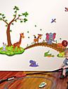 Animale / Desene Animate / Modă Perete Postituri Autocolante perete plane Autocolante de Perete Decorative,PVC Material DetașabilPagina