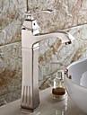 badrum handfat blandare borstad nickel vattenfall enda handtag enda hål kärl toalett kranar hög kropps