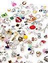 10pcs de haute qualite melange aleatoire de manucure bijoux en alliage