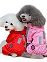 Pisici Câini Haină de ploaie Îmbrăcăminte Câini Vara Primăvara/toamnă Solid Impermeabil Rosu Roz