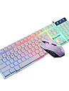 Spelmus Tyst Mus USB 2400 mekaniska tangentbord gaming tangentbord ergonomiskt tangentbord USB svart axel Multi färg bakgrundsbelysning T6