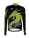 Sportif Maillot de Cyclisme Homme Manches longues VeloRespirable / Garder au chaud / Sechage rapide / Zip frontal / Pocket Retour / Tissu
