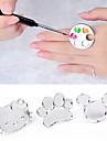 mignon palette nail art de bague metallique de melange gel acrylique peinture polonaise outils couleur dessin peinture plat de manucure