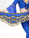 Belly Dance Hip Scarves Women\'s Training Polyester Beading / Gold Coins 1 Piece