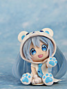 Cosplay Snow Miku PVC 7cm Anime Actionfigurer Modell Leksaker doll Toy