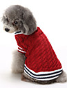 Katter / Hundar Tröjor Röd / Blå Hundkläder Vinter Färgblock Ledigt/vardag / Håller värmen / Jul
